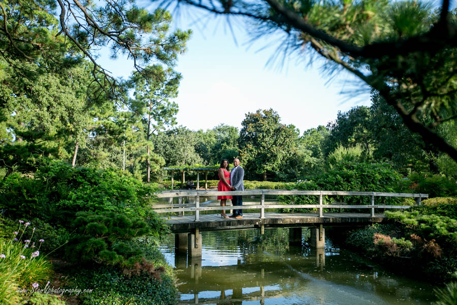 Indian Engagement photo at Herman Park-Japanese Garden