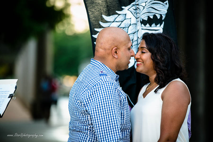 Indian Engagement photo at Texas A&M University park