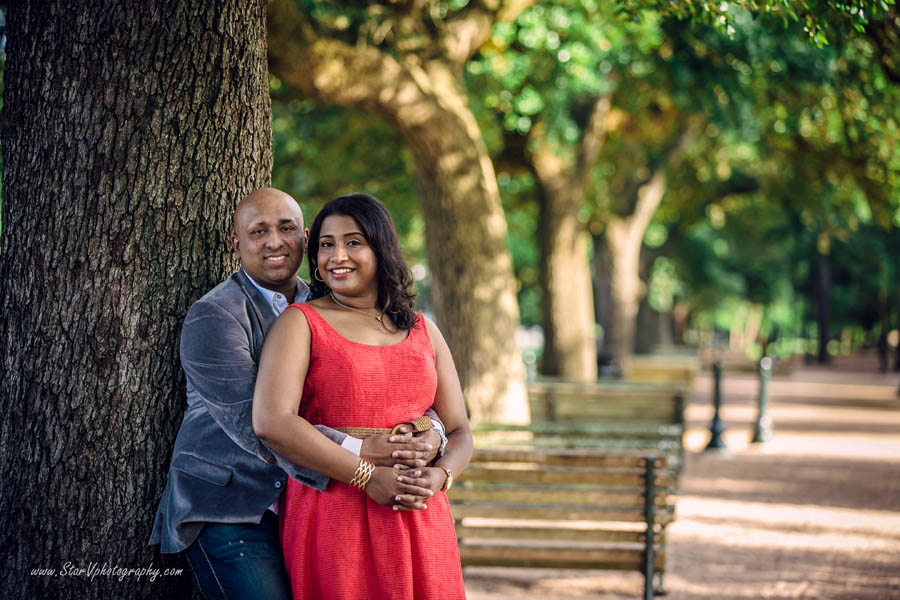 Indian Engagement photo at Herman Park