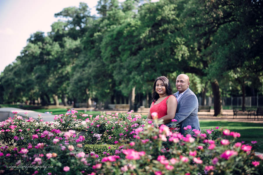 Indian Engagement photo at Herman Park