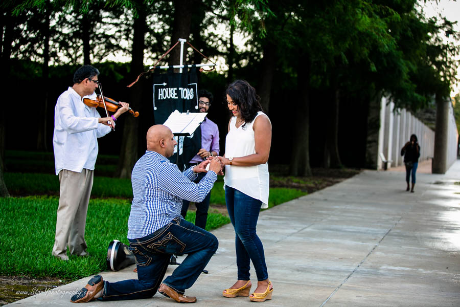 Romatic Engagement Proposal at Texas A&M University park